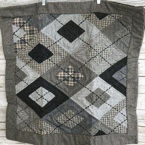 Pottery Barn Gray Cotton Euro Pillow Shams - Pr.